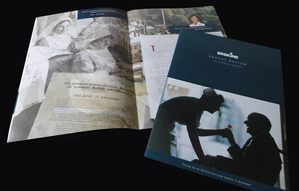 Erskine Hospital - Print Design Brief: To design and produce an Annual Review